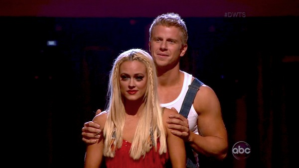 Former &#39;Bachelor&#39; star Sean Lowe and his partner Peta Murgatroyd appear on the second results show for &#39;Dancing With The Stars&#39; season 16, which aired on Tuesday, April 2, 2013. They had received a total of 21 out of 30 points for their week 3 performance on Monday. <span class=meta>(ABC)</span>