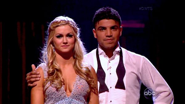 "<div class=""meta ""><span class=""caption-text "">Boxer Victor Ortiz and his partner Lindsay Arnold appear on the second results show for 'Dancing With The Stars' season 16, which aired on Tuesday, April 2, 2013. They had received a total of 23 out of 30 points for their week 3 performance on Monday. (ABC)</span></div>"