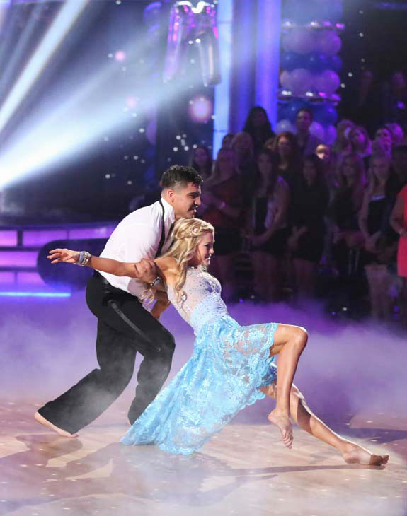 "<div class=""meta ""><span class=""caption-text "">Boxer Victor Ortiz and his partner Lindsay Arnold received 23 out of 30 points from the judges for their Contemporary routine during week three of 'Dancing With The Stars,' which aired on April 1, 2013. (ABC Photo/ Adam Taylor)</span></div>"