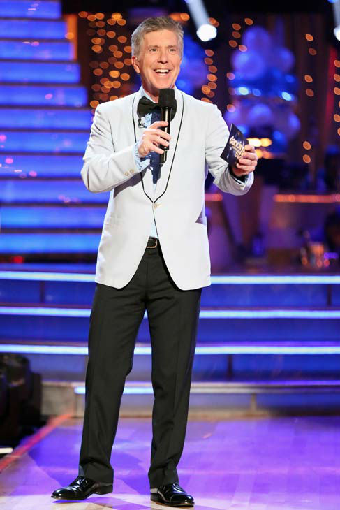 Tom Bergeron appears on 'Dancing With The Stars' on April 1, 2013.