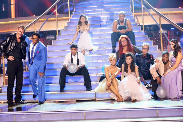 "<div class=""meta image-caption""><div class=""origin-logo origin-image ""><span></span></div><span class=""caption-text"">The cast of 'Dancing With The Stars' appear in a photo from the group prom dance on April 1, 2013.  (ABC Photo/ Adam Taylor)</span></div>"