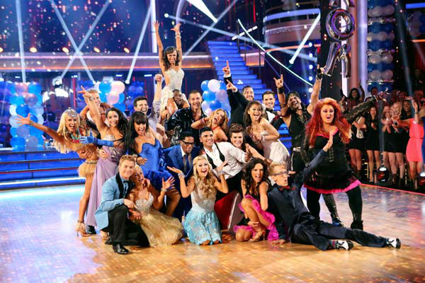 The cast of 'Dancing With The Stars' appear in a photo from the group prom dance on April 1, 2013.