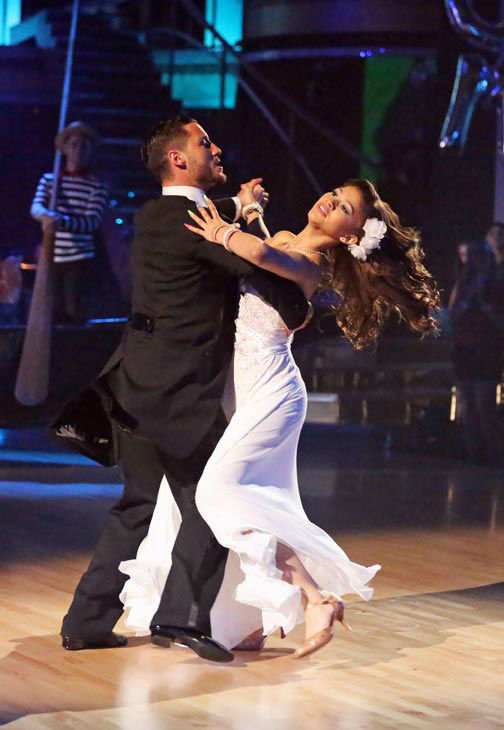 &#39;Shake It Up&#39; actress Zendaya Coleman and her partner Val Chmerkovskiy received 24 out of 30 points from the judges for their Viennese Waltz during week three of &#39;Dancing With The Stars,&#39; which aired on April 1, 2013. <span class=meta>(ABC Photo&#47; Adam Taylor)</span>