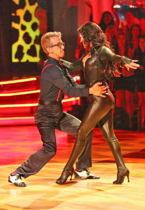 "<div class=""meta image-caption""><div class=""origin-logo origin-image ""><span></span></div><span class=""caption-text"">Actor and comedian Andy Dick and his partner Sharna Burgess received 18 out of 30 points from the judges for their Cha Cha Cha routine during week three of 'Dancing With The Stars,' which aired on April 1, 2013.  (ABC Photo/ Adam Taylor)</span></div>"