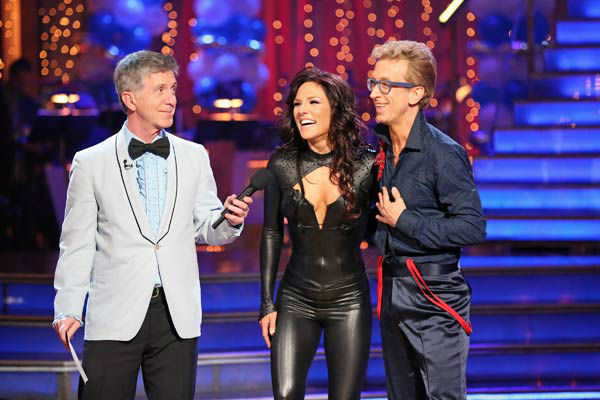 "<div class=""meta ""><span class=""caption-text "">Actor and comedian Andy Dick and his partner Sharna Burgess received 18 out of 30 points from the judges for their Cha Cha Cha routine during week three of 'Dancing With The Stars,' which aired on April 1, 2013.  (ABC Photo/ Adam Taylor)</span></div>"