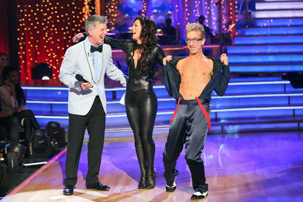 Actor and comedian Andy Dick and his partner Sharna Burgess received 18 out of 30 points from the judges for their Cha Cha Cha routine during week three of &#39;Dancing With The Stars,&#39; which aired on April 1, 2013.  <span class=meta>(ABC Photo&#47; Adam Taylor)</span>