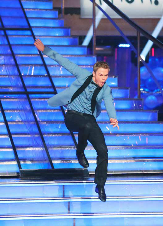"<div class=""meta ""><span class=""caption-text "">Derek Hough appears on 'Dancing With The Stars' on April 1, 2013. (ABC Photo/ Adam Taylor)</span></div>"