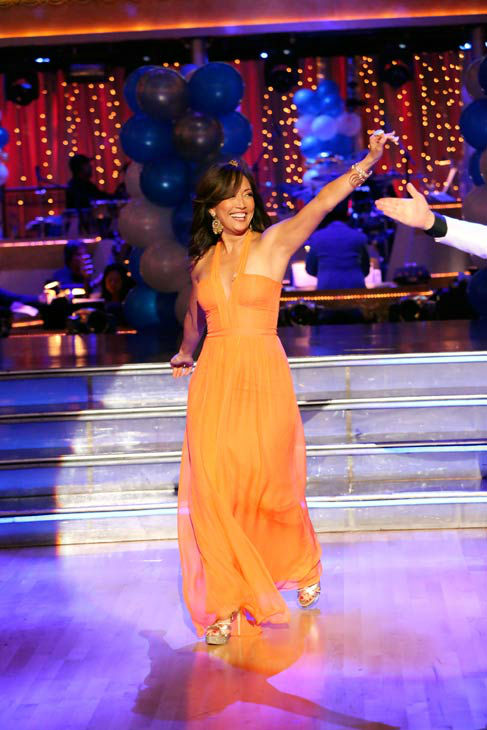 "<div class=""meta ""><span class=""caption-text "">Carrie Ann Inaba appears on 'Dancing With The Stars' on April 1, 2013. (ABC Photo/ Adam Taylor)</span></div>"
