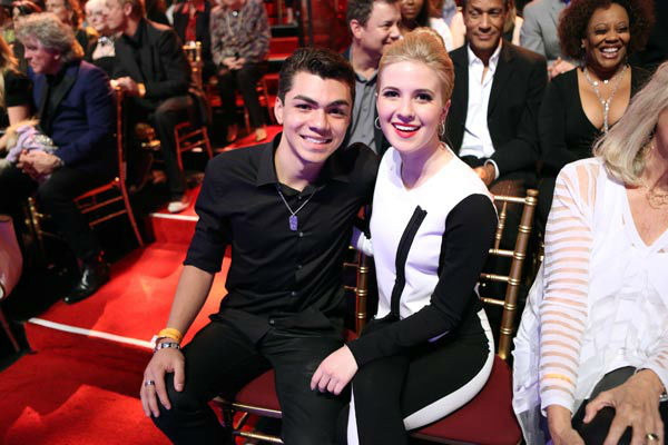 Adam Irigoyen and Caroline Sunshine of &#39;Shake It Up&#39; appear on &#39;Dancing With The Stars&#39; on April 1, 2013. <span class=meta>(ABC Photo&#47; Adam Taylor)</span>