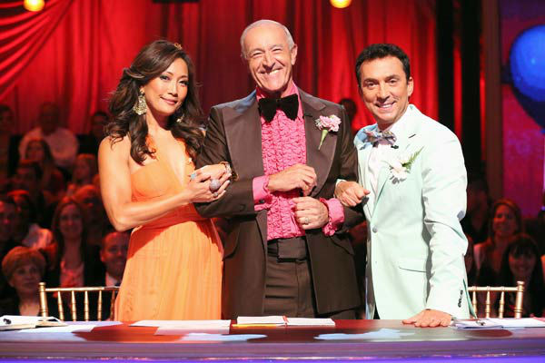 Judges Carrie Ann Inaba, Len Goodman, Bruno Tonioli appear on &#39;Dancing With The Stars&#39; on April 1, 2013. <span class=meta>(ABC Photo&#47; Adam Taylor)</span>