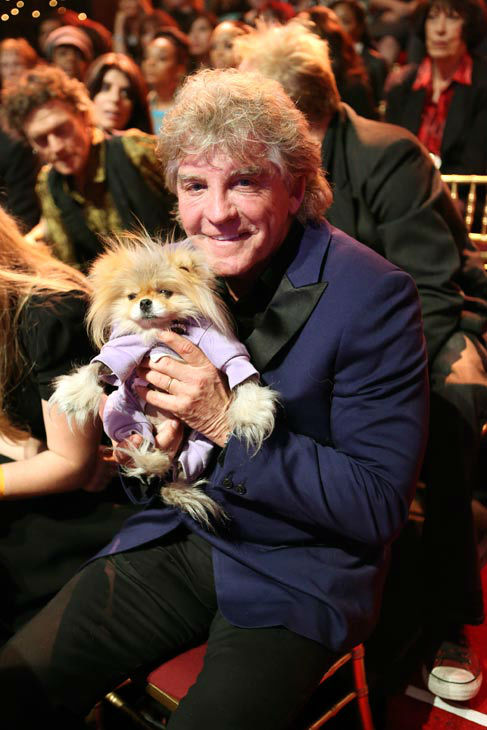 Contestant Lisa Vanderpump&#39;s husband, Ken Todd, and the family dog, Giggy, appear on &#39;Dancing With The Stars&#39; on April 1, 2013. <span class=meta>(ABC Photo&#47; Adam Taylor)</span>