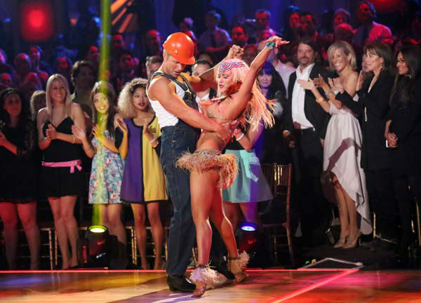 Former 'Bachelor' star Sean Lowe and his partner Peta Murgatroyd appear on 'Dancing With The Stars' on April 1, 2013.