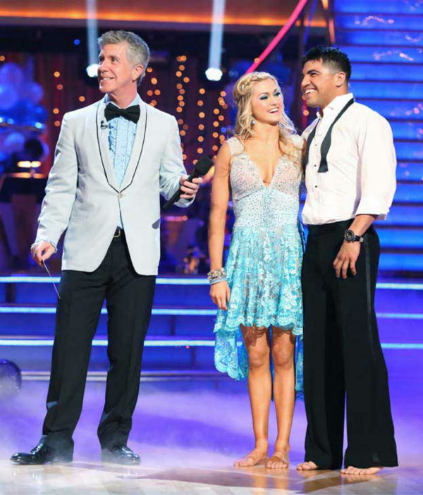 "<div class=""meta image-caption""><div class=""origin-logo origin-image ""><span></span></div><span class=""caption-text"">Boxer Victor Ortiz and his partner Lindsay Arnold received 23 out of 30 points from the judges for their Contemporary routine during week three of 'Dancing With The Stars,' which aired on April 1, 2013. (ABC Photo/ Adam Taylor)</span></div>"