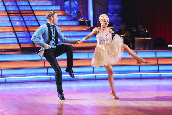 "<div class=""meta ""><span class=""caption-text "">Singer and former 'American Idol' contestant Kellie Pickler and her partner Derek Hough received 25 out of 30 points from the judges for their Jive during week three of 'Dancing With The Stars,' which aired on April 1, 2013. (ABC Photo/ Adam Taylor)</span></div>"