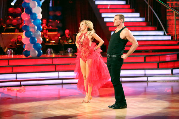 "<div class=""meta ""><span class=""caption-text "">Actor Ingo Rademacher and his partner Kym Johnson received 21 out of 30 points from the judges for their Paso Doble routine during week three of 'Dancing With The Stars,' which aired on April 1, 2013. (ABC Photo/ Adam Taylor)</span></div>"