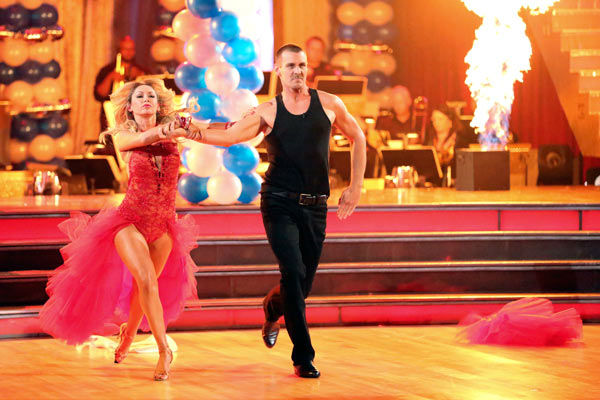 "<div class=""meta image-caption""><div class=""origin-logo origin-image ""><span></span></div><span class=""caption-text"">Actor Ingo Rademacher and his partner Kym Johnson received 21 out of 30 points from the judges for their Paso Doble routine during week three of 'Dancing With The Stars,' which aired on April 1, 2013. (ABC Photo/ Adam Taylor)</span></div>"