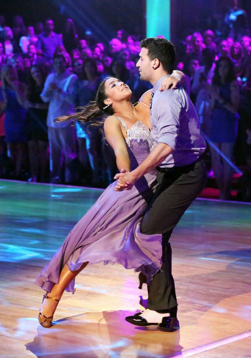 Olympic gymnast Aly Raisman and her partner Mark Ballas and her partner Derek Hough received 23 out of 30 points from the judges for their Viennese Waltz during week three of &#39;Dancing With The Stars,&#39; which aired on April 1, 2013. <span class=meta>(ABC Photo&#47; Adam Taylor)</span>
