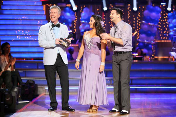 "<div class=""meta ""><span class=""caption-text "">Olympic gymnast Aly Raisman and her partner Mark Ballas and her partner Derek Hough received 23 out of 30 points from the judges for their Viennese Waltz during week three of 'Dancing With The Stars,' which aired on April 1, 2013. (ABC Photo/ Adam Taylor)</span></div>"