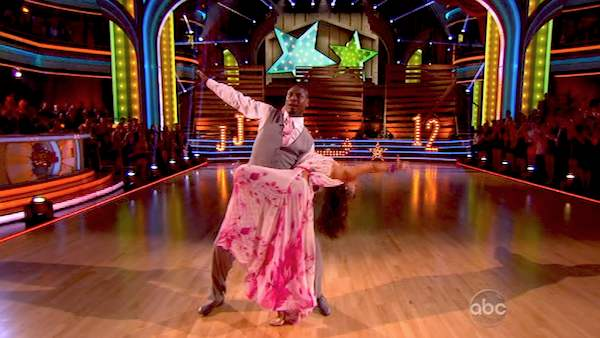 "<div class=""meta ""><span class=""caption-text "">NFL star Jacoby Jones and his partner Karina Smirnoff received 24 out of 30 points from the judges for their Foxtrot during week 4 of season 16 of 'Dancing With The Stars,' which aired on April 8, 2013. (ABC)</span></div>"