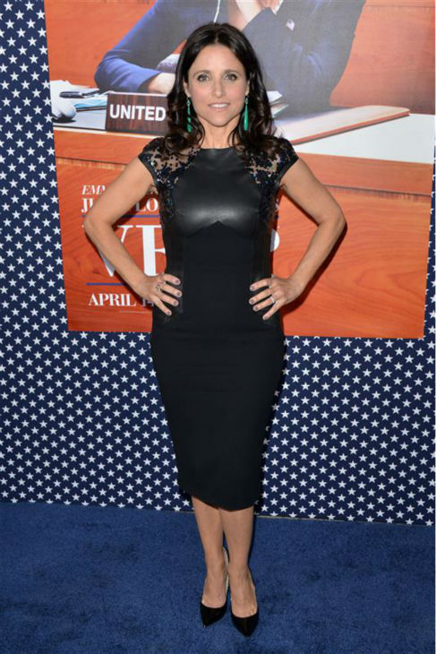 Julia Louis-Dreyfus appears at the premiere of season 2 of the HBO series &#39;Veep&#39; in Los Angeles on April 9, 2013. She plays Vice President Selina Meyer on the show. <span class=meta>(Tony DiMaio &#47; Startraksphoto.com)</span>