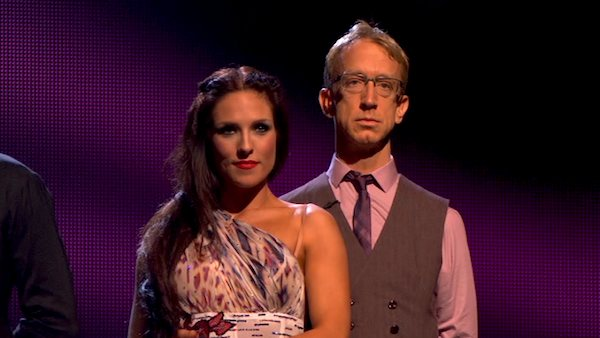 Actor and comedian Andy Dick and his partner Sharna Burgess await their fate on &#39;Dancing With The Stars: The Results Show&#39; on April 9, 2013. The pair received 21 out of 30 points from the judges for their Viennese Waltz  on week four of &#39;Dancing With The Stars,&#39; which aired on April 8, 2013. <span class=meta>(ABC)</span>