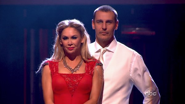 Actor Ingo Rademacher and his partner Kym Johnson await their fate on &#39;Dancing With The Stars: The Results Show&#39; on April 9, 2013. The pair received 23 out of 30 points from the judges for their Viennese Waltz on week four of &#39;Dancing With The Stars,&#39; which aired on April 8, 2013. <span class=meta>(ABC)</span>