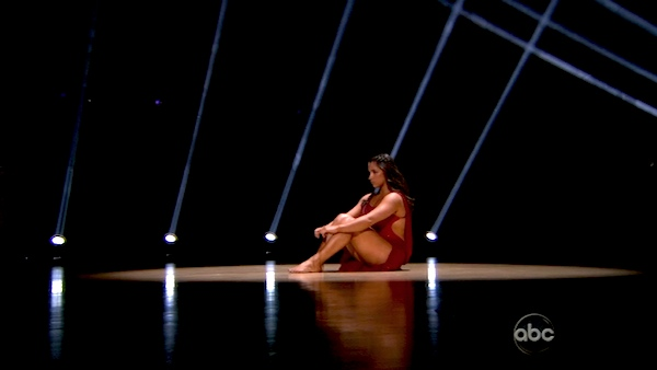 Olympic gymnast Aly Raisman and her partner Mark Ballas performed an encore of their Contemporary routine on &#39;Dancing With The Stars: The Results Show&#39; on April 9, 2013. <span class=meta>(ABC)</span>