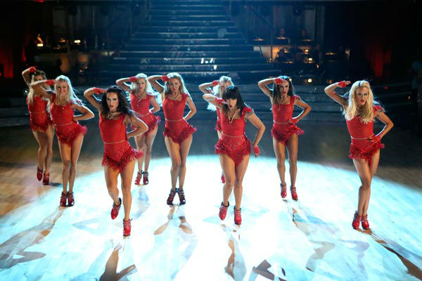 "<div class=""meta ""><span class=""caption-text "">The female Pro and Troupe dancers of 'Dancing With The Stars' performed a special opening number on 'Dancing With The Stars: The Results Show' on April 9, 2013. (ABC Photo/ Adam Taylor)</span></div>"