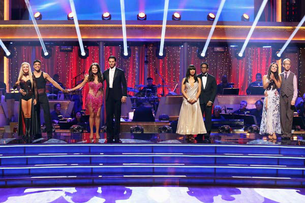 "<div class=""meta ""><span class=""caption-text "">Actor and comedian D.L. Hughley and his partner Cheryl Burke await their fate on 'Dancing With The Stars: The Results Show' on April 9, 2013. The pair received 21 out of 30 points from the judges for their Foxtrot on week four of 'Dancing With The Stars,' which aired on April 8, 2013. (ABC Photo/ Adam Taylor)</span></div>"