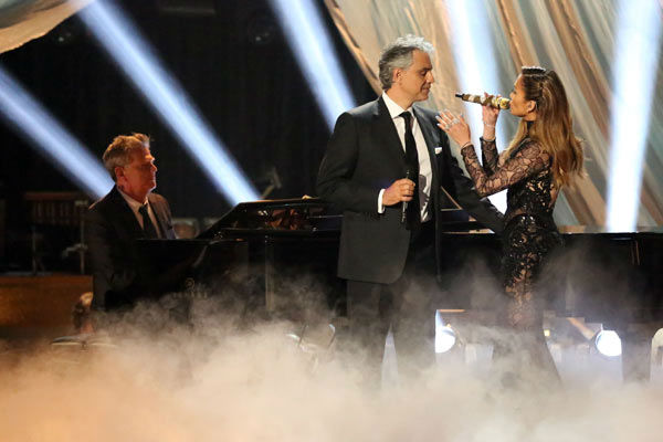 Andrea Bocelli and Jennifer Lopez performed &#39;Quizas, Quizas, Quizas&#39; on &#39;Dancing With The Stars: The Results Show&#39; on April 9, 2013.  The song is featured on Bocelli&#39;s new album &#39;Passion.&#39; <span class=meta>(ABC Photo&#47; Adam Taylor)</span>