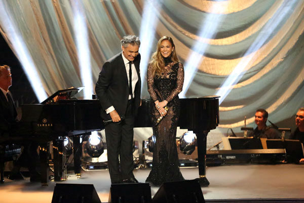 "<div class=""meta ""><span class=""caption-text "">Andrea Bocelli and Jennifer Lopez performed 'Quizas, Quizas, Quizas' on 'Dancing With The Stars: The Results Show' on April 9, 2013.  The song is featured on Bocelli's new album 'Passion.' (ABC Photo/ Adam Taylor)</span></div>"