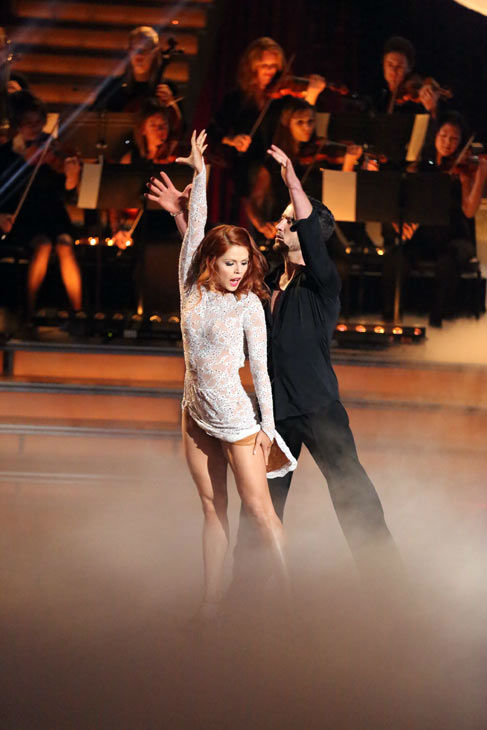 Andrea Bocelli and Jennifer Lopez performed 'Quizas, Quizas, Quizas' on 'Dancing With The Stars: The Results Show' on April 9, 2013.  The song is featured on Bocelli's new album 'Passion.' Pros Valentin Chmerkovskiy and Anna Trebunskaya accompanied the pe