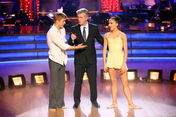 The first &#39;AT&#38;T Spotlight Performance&#39; of the &#39;Dancing With The Stars&#39; season aired on April 9, 2013. Brilynn Rakes, a 17-year-old from San Diego who was born with nystagmus and cone dystrophy, which has caused her to become legally blind.  She was recently honored with a full scholarship to Julliard&#39;s summer workshop and danced on the show with her favorite pro, Derek Hough. The couple danced a routine to &#39;Stars&#39; by Grace Potter and the Nocturnals.   <span class=meta>(ABC Photo&#47; Adam Taylor)</span>