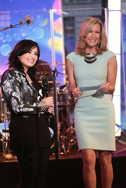 Demi Lovato appears with &#39;Good Morning America&#39; co-host Lara Spencer on April 10, 2013. <span class=meta>(ABC Photo&#47; Fred Lee)</span>