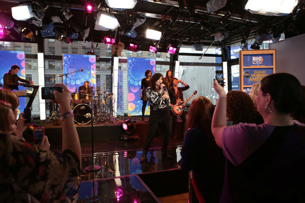 Demi Lovato performs on 'Good Morning America,' on April 10, 2013.
