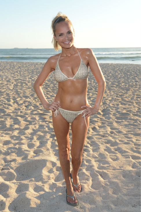 Kristin Chenoweth poses in a bikini at the St Regis Punta Mita Resort in Mexico on April 13, 2013.