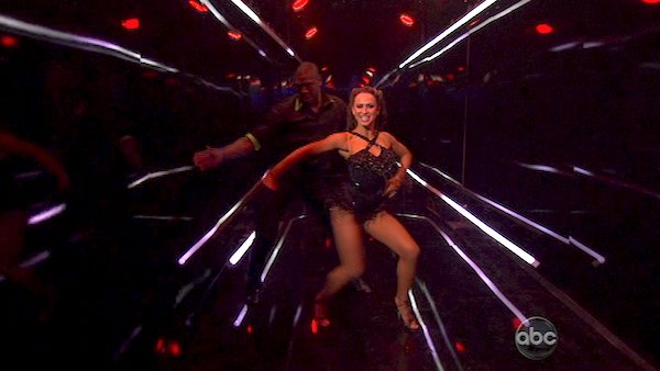 "<div class=""meta image-caption""><div class=""origin-logo origin-image ""><span></span></div><span class=""caption-text"">NFL star Jacoby Jones and partner Karina Smirnoff dance during a group ensemble on week 5 of 'Dancing With The Stars' on April 15, 2013.  (ABC Photo / Adam Taylor)</span></div>"