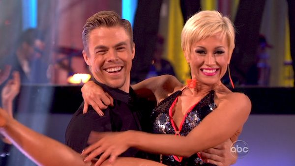 "<div class=""meta ""><span class=""caption-text "">Kellie Pickler and partner Derek Hough dance during a group ensemble on week five of 'Dancing With The Stars' on April 15, 2013.  (ABC Photo / Adam Taylor)</span></div>"
