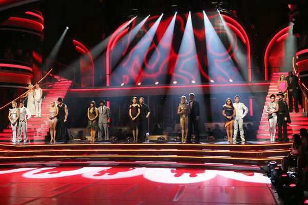 The cast of &#39;Dancing With The Stars&#39; await their fate on &#39;Dancing With The Stars: The Results Show&#39; on April 16, 2013. <span class=meta>(ABC&#47;Adam Taylor)</span>