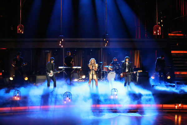 The Band Perry performs their hit No. 1 song 'Better Dig Two' on 'Dancing With The Stars: The Results Show' on April 16, 2013.