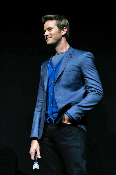 "<div class=""meta ""><span class=""caption-text "">Actor Armie Hammer appears at The Walt Disney Studios Motion Pictures presentation to promote his upcoming film, 'The Lone Ranger' at Caesars Palace during CinemaCon, the official convention of the National Association of Theatre Owners on April 17, 2013 in Las Vegas, Nevada. (Photo/Isaac Brekken/Walt Disney Studios)</span></div>"