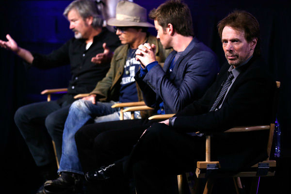 "<div class=""meta image-caption""><div class=""origin-logo origin-image ""><span></span></div><span class=""caption-text"">Director Gore Verbinski, actor Johnny Depp, actor Armie Hammer and producer Jerry Bruckheimer attend 'The Lone Ranger' fan event and global trailer launch at the AMC Town Square 18 theatres on April 17, 2013 in Las Vegas, Nevada.  (Photo/Isaac Brekken/Walt Disney Studios)</span></div>"
