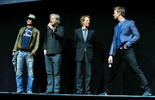 "<div class=""meta image-caption""><div class=""origin-logo origin-image ""><span></span></div><span class=""caption-text"">Actor Johnny Depp, director Gore Verbinski, producer Jerry Bruckheimer and actor Armie Hammer speak at The Walt Disney Studios Motion Pictures presentation to promote their upcoming film, 'The Lone Ranger' at Caesars Palace during CinemaCon, the official convention of the National Association of Theatre Owners on April 17, 2013 in Las Vegas, Nevada. (Photo/Isaac Brekken/Walt Disney Studios)</span></div>"