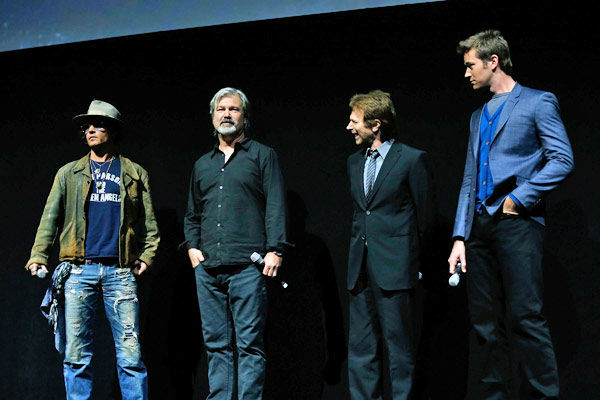 Actor Johnny Depp, director Gore Verbinski, producer Jerry Bruckheimer and actor Armie Hammer speak at The Walt Disney Studios Motion Pictures presentation to promote their upcoming film, &#39;The Lone Ranger&#39; at Caesars Palace during CinemaCon, the official convention of the National Association of Theatre Owners on April 17, 2013 in Las Vegas, Nevada.  <span class=meta>(Photo&#47;Isaac Brekken&#47;Walt Disney Studios)</span>