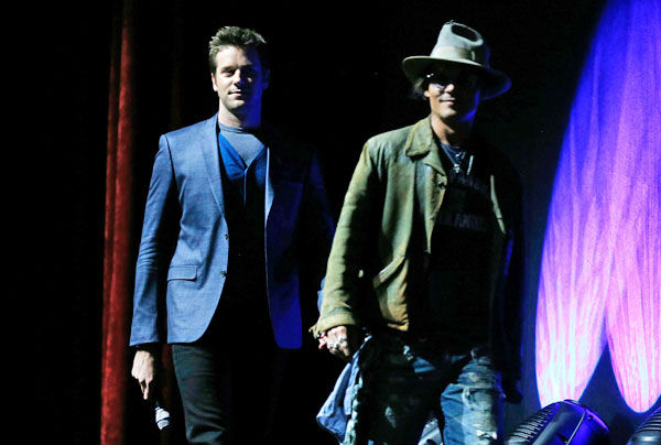 Actors Johnny Depp &#40;R&#41; and Armie Hammer appear at The Walt Disney Studios Motion Pictures presentation to promote their upcoming film, &#39;The Lone Ranger&#39; at Caesars Palace during CinemaCon, the official convention of the National Association of Theatre Owners on April 17, 2013 in Las Vegas, Nevada. <span class=meta>(Photo&#47;Isaac Brekken&#47;Walt Disney Studios)</span>