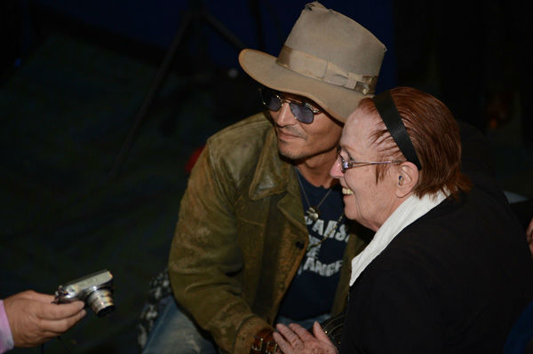 Actor Johnny Depp greets fans of all ages gathered at &#39;The Lone Ranger&#39; fan event and global trailer launch at the AMC Town Square 18 theatres on April 17, 2013 in Las Vegas, Nevada. <span class=meta>(Photo&#47;Walt Disney Studios)</span>