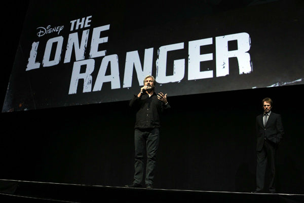 Director Gore Verbinski speaks at The Walt Disney Studios Motion Pictures presentation to promote his upcoming film, &#39;The Lone Ranger&#39; at Caesars Palace during CinemaCon, the official convention of the National Association of Theatre Owners on April 17, 2013 in Las Vegas, Nevada. <span class=meta>(Photo&#47;Isaac Brekken&#47;Walt Disney Studios)</span>