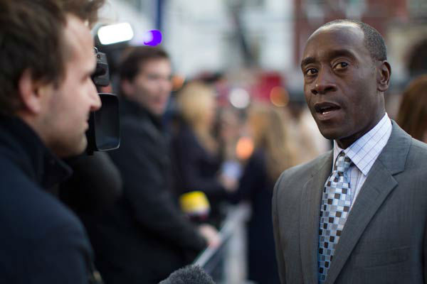 Actor Don Cheadle at the European tour of &#39;Marvel&#39;s Iron Man 3&#39; - Special Screening on April 18, 2013 at Odeon Leicester Square, London, England. <span class=meta>(JamesGillham&#47;StingMedia)</span>
