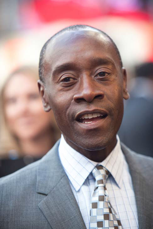 Actor Don Cheadle at the European tour of 'Marvel's Iron Man 3' - Special Screening on April 18, 2013 at Odeon Leicester Square, London, England.
