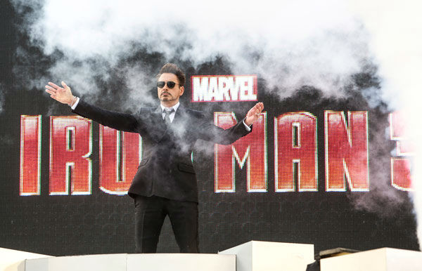 Actor Robert Downey Jr. at the European tour of &#39;Marvel&#39;s Iron Man 3&#39; - Special Screening on April 18, 2013 at Odeon Leicester Square, London, England. <span class=meta>(JamesGillham&#47;StingMedia)</span>